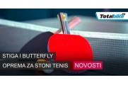 Stiga i Butterfly oprema za stoni tenis