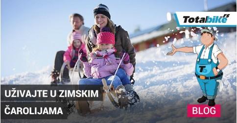 Zimske čarolije na snegu sa porodicom, sankanje i klisko.