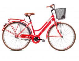 capriolo bicikl amsterdam lady city bike crven