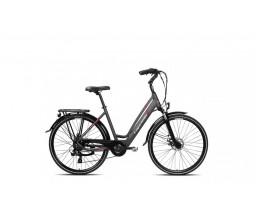 capriolo bicikl E-bike e-city lady 28 sivo pink