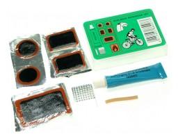 Pribor za krpljenje fleke + lepak + šmirgla + gumica za ventil