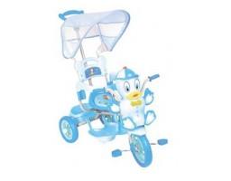 Tricikl sa drškom i suncobranom u obliku patke