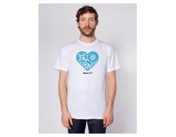 Totalbike muška majica - biciklistički delovi srce