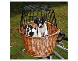 Pletena korpa za transport na bicikli