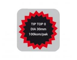 TIP TOP flekice 0, DIA 30MM, 100kom/pak